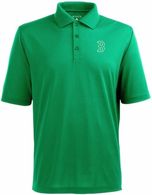 Boston Red Sox Mens Pique Xtra Lite Polo Shirt (Color: Green)
