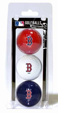 Boston Red Sox Set of 3 Multicolor Golf Balls