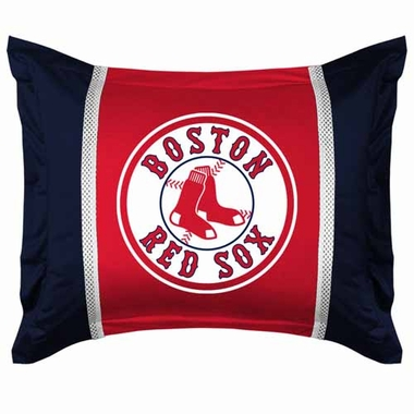 Boston Red Sox SIDELINES Jersey Material Pillow Sham