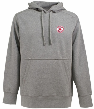 Boston Red Sox Mens Signature Hooded Sweatshirt (Color: Silver)