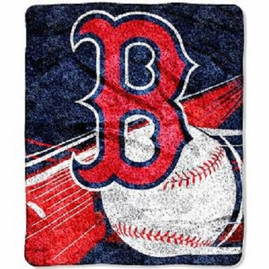 Boston Red Sox Super-Soft Sherpa Blanket
