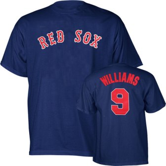 Boston Red Sox Ted Williams Name and Number T-Shirt