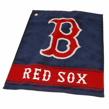 Boston Red Sox Woven Golf Towel