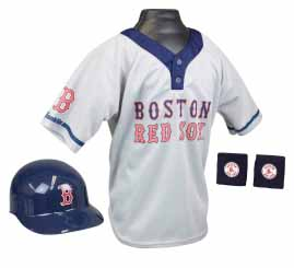 Boston Red Sox Baseball Helmet and Jersey Set