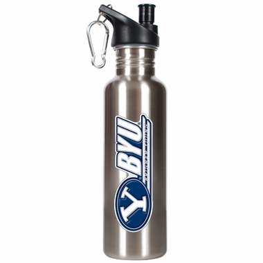 Brigham Young 26oz Stainless Steel Water Bottle (Silver)