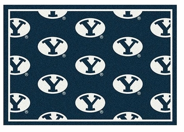 "Brigham Young 5'4"" x 7'8"" Premium Pattern Rug"