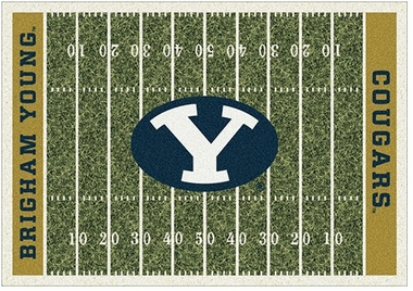 "Brigham Young 7'8"" x 10'9"" Premium Field Rug"