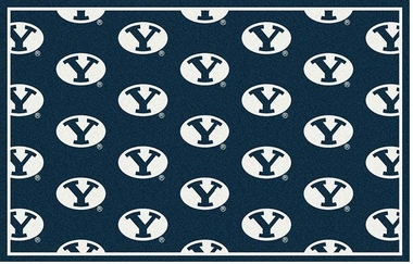 "Brigham Young 7'8 x 10'9"" Premium Pattern Rug"