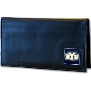 Brigham Young Leather Checkbook Cover (F)