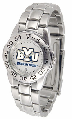 Brigham Young Sport Women's Steel Band Watch