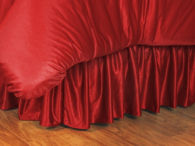 Bright Red Jersey Material Bedskirt
