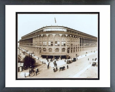 Brooklyn Dodgers Ebbets Field - Outside #1 16x20 Framed and Double-Matted Photo