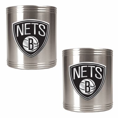 Brooklyn Nets 2 Can Holder Set