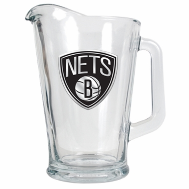 Brooklyn Nets 60 oz Glass Pitcher