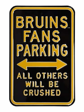 Bruins / Penalized Parking Sign