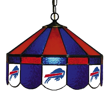 Buffalo Bills 16 Inch Diameter Stained Glass Pub Light