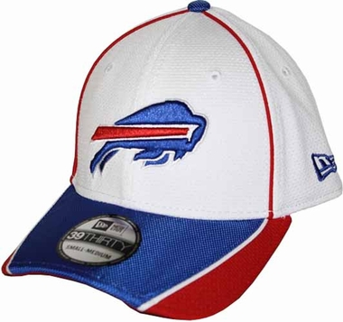 Buffalo Bills 39THIRTY Abrasion Plus Fitted Hat - White