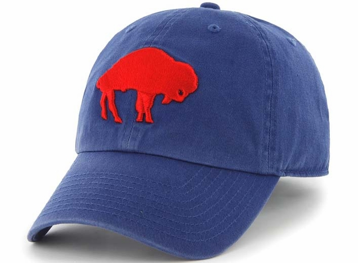 buy popular 00c9c 336cf ... clearance buffalo bills 47 brand royal blue throwback clean up  adjustable hat 5d486 93a92 ...
