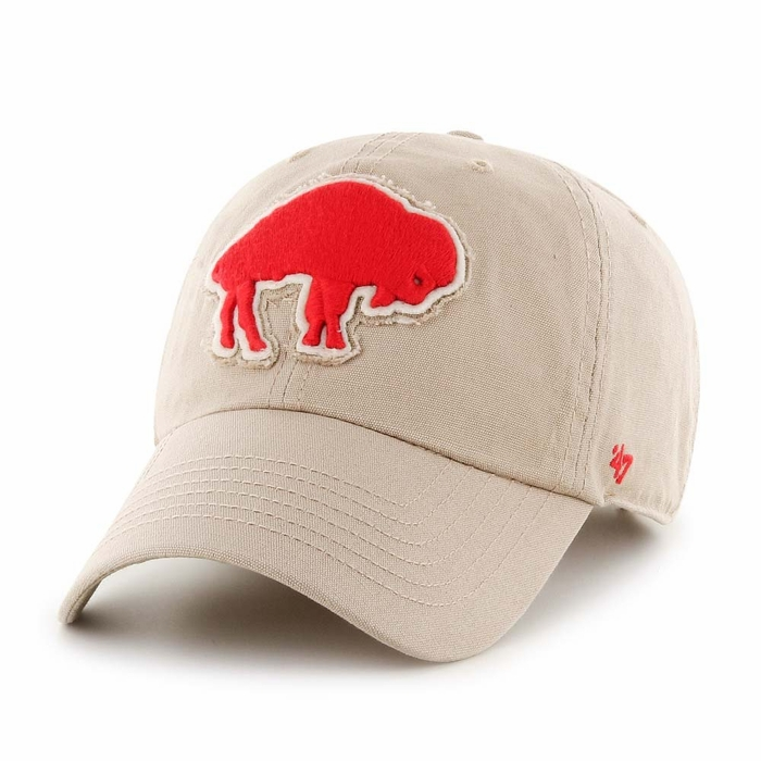 17cb4f10301 Buffalo Bills 47 Brand Wright Clean Up Adjustable Hat - Khaki