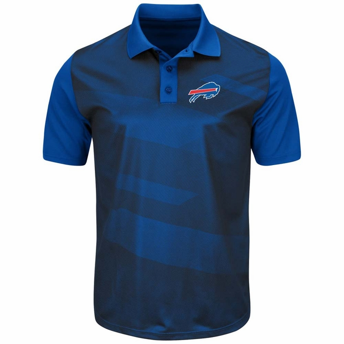 Buffalo bills majestic club seat men 39 s short sleeve polo for Buffalo bills polo shirts
