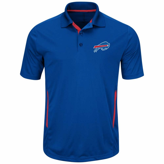 Buffalo bills majestic field classic 2 men 39 s short sleeve for Buffalo bills polo shirts