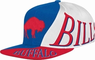05a56058dcf Buffalo Bills Mitchell   Ness The Skew Retro Vintage Snap Back Hat