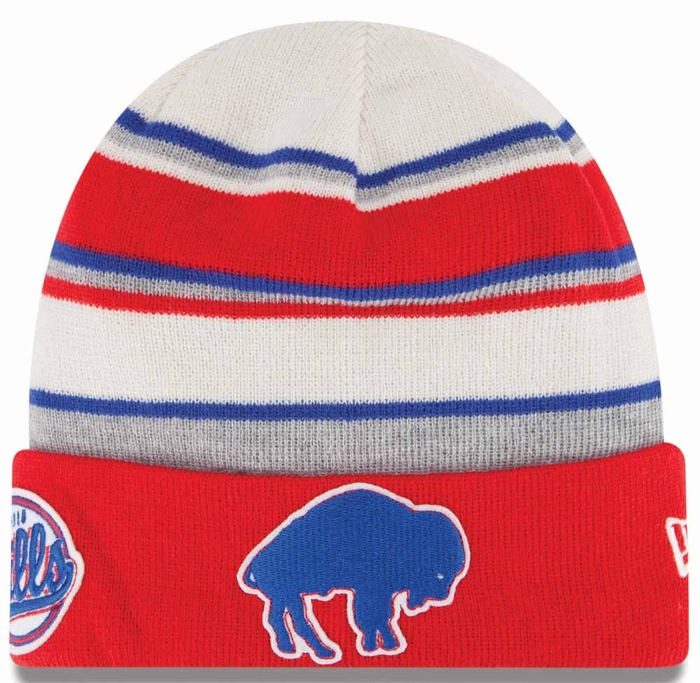Buffalo Bills New Era Winter Tradition Throwback Cuffed Knit Hat a30d39e202eb