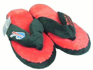 Buffalo Bills Plush Thong Slippers - X-Large