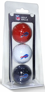 Buffalo Bills Set of 3 Multicolor Golf Balls