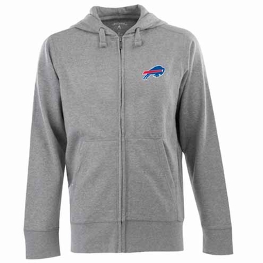 Buffalo Bills Mens Signature Full Zip Hooded Sweatshirt (Color: Silver)