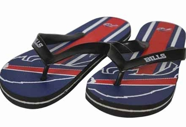 Buffalo Bills Unisex Big Logo Flip Flops - Medium