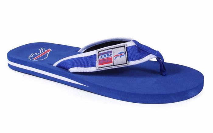 buffalo bills unisex contour flip flops medium. Black Bedroom Furniture Sets. Home Design Ideas