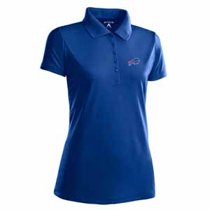Buffalo Bills Womens Pique Xtra Lite Polo Shirt (Color: Royal) - Large