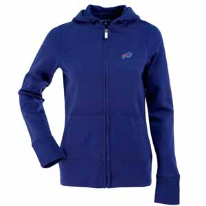 Buffalo Bills Womens Zip Front Hoody Sweatshirt (Color: Royal) - Large