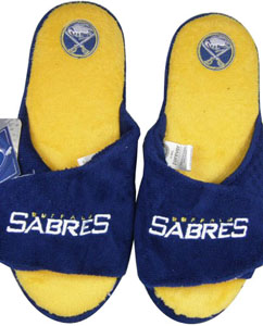 Buffalo Sabres 2011 Open Toe Hard Sole Slippers - Medium