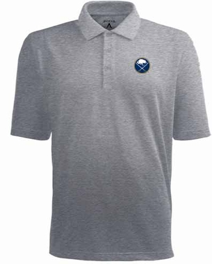 Buffalo Sabres Mens Pique Xtra Lite Polo Shirt (Color: Gray)