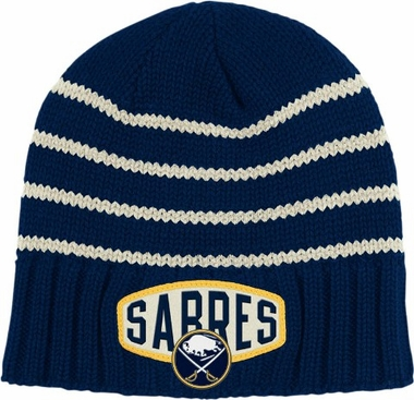 Buffalo Sabres Throwback Felt Logo Cuffless Knit Hat