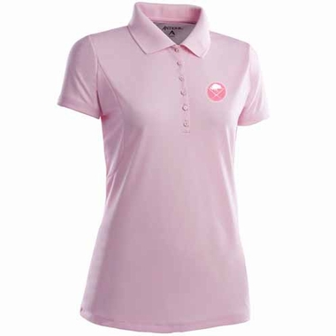 Buffalo Sabres Womens Pique Xtra Lite Polo Shirt (Color: Pink)