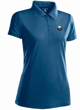 Buffalo Sabres Womens Pique Xtra Lite Polo Shirt (Color: Navy)