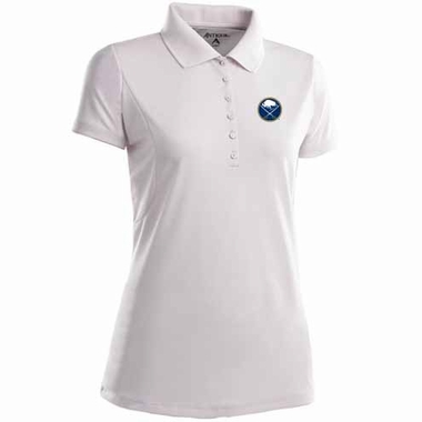 Buffalo Sabres Womens Pique Xtra Lite Polo Shirt (Color: White)