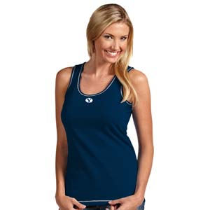 BYU Womens Sport Tank Top (Color: Navy) - Small