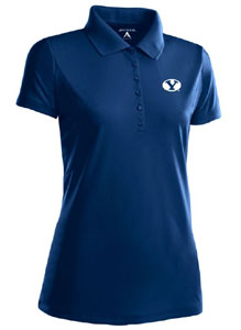 BYU Womens Pique Xtra Lite Polo Shirt (Color: Navy) - Large