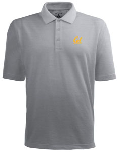 Cal Mens Pique Xtra Lite Polo Shirt (Color: Gray) - X-Large