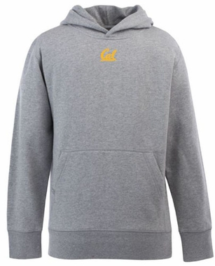 Cal YOUTH Boys Signature Hooded Sweatshirt (Color: Silver)