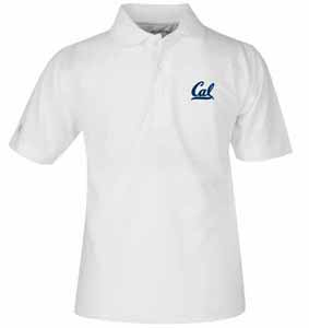Cal YOUTH Unisex Pique Polo Shirt (Color: White) - Large