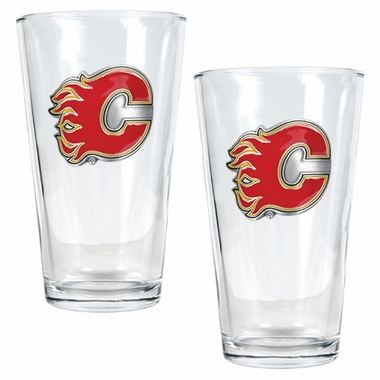 Calgary Flames 2 Piece Pint Glass Set