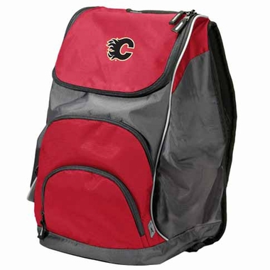 Calgary Flames Action Backpack (Color: Red)