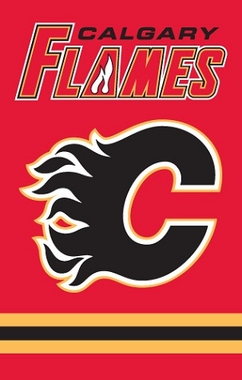 Calgary Flames Applique Banner Flag