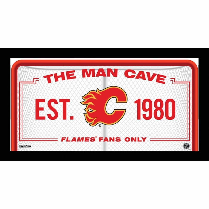 Man Cave Furniture Calgary : Calgary flames man cave sign framed photo