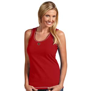 Calgary Flames Womens Sport Tank Top (Color: Red) - X-Large